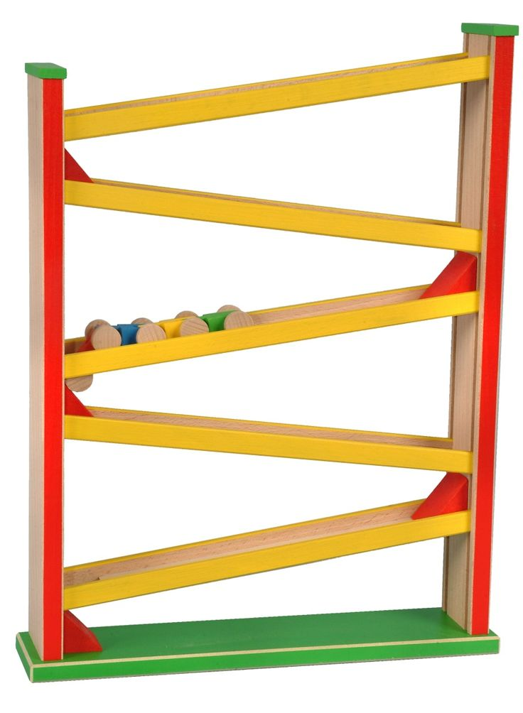 Racing chute with train — Modra Kachna Toys