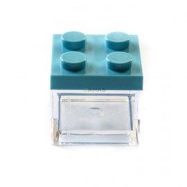 Scatolina in Plexiglass con Tappo Lego Azzurro 5x5x5