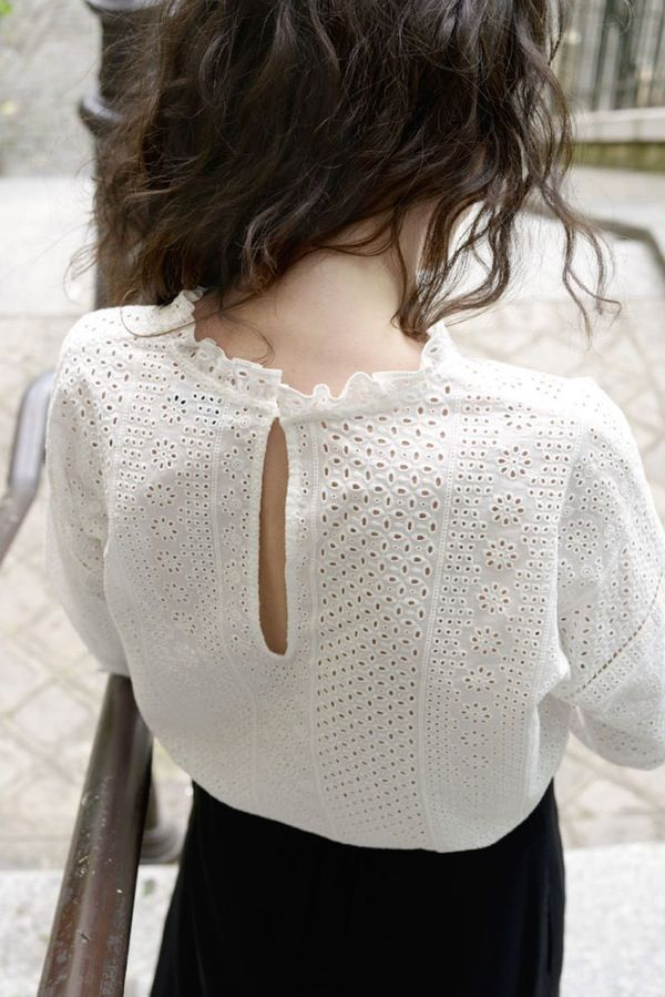 Blouse Claude broderie anglaise - MAISON BRUNET - h