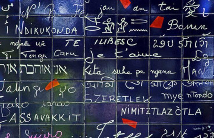 Le mur de l'amour au pied de Montmartre.
