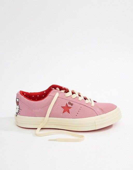 Converse X Hello Kitty One Star Sneakers  f5e5da47ff052