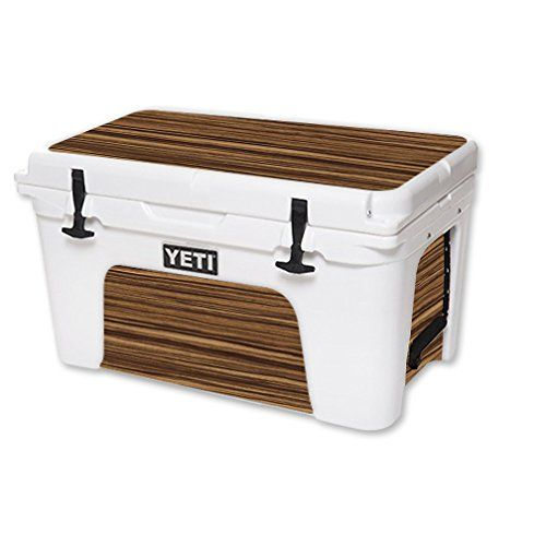 MightySkins Protective Vinyl Skin Decal for YETI Tundra 45 qt Cooler wrap cover sticker skins Dark Zebra Wood * You can find out more details at the link of the image.(This is an Amazon affiliate link and I receive a commission for the sales)