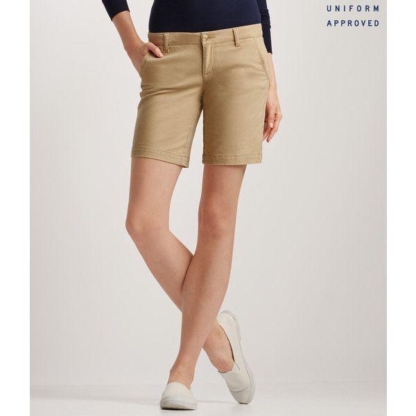 Aeropostale Curvy Solid Bermuda Uniform Shorts*** ($14) ❤ liked on Polyvore featuring shorts, summer tan, relaxed fit shorts, relaxed shorts, bermuda shorts, summer shorts and aeropostale shorts