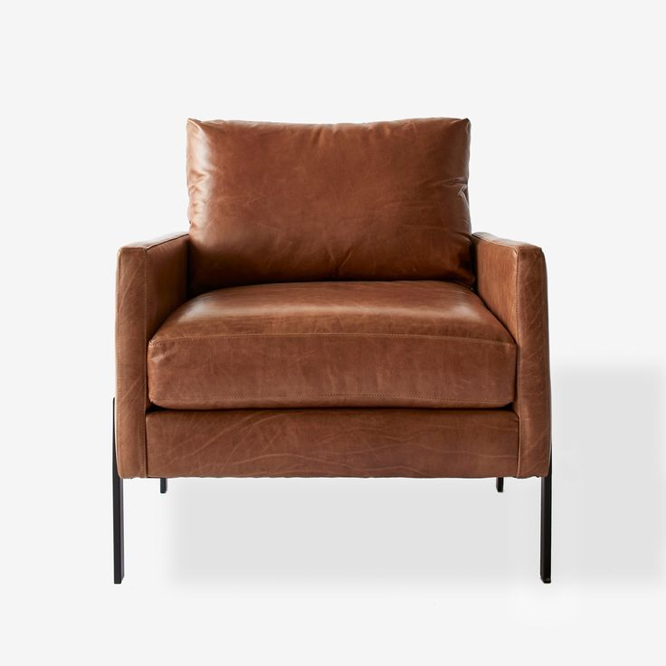 Gunnison cognac leather chair leather chair living room