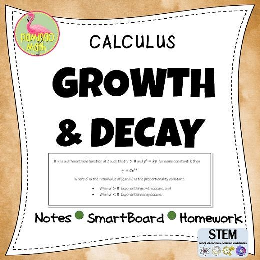 This lesson is intended for AP Calculus AB, Calculus BC, and Calculus Honors or College Calculus students. The single lesson includes a student handout, a fully-editable SMARTBOARD presentation, a completed set of notes, and a homework assignment for the lesson. Students will solve differential equations related to exponential growth and decay, half-life, logistic functions for population, bacterial growth, economics, banking, and more.