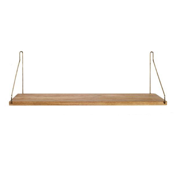 D27 600 shelf, brass