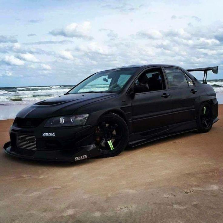 #Mitsubishi_Evo #Modified #BlackOnBlack #BlackedOut