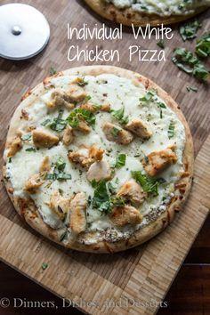 Individual White Chicken Pizza