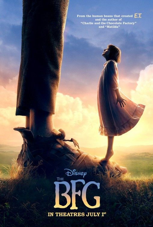 The BFG (2016) starring Mark Rylance, directed by Stephen Spielberg at Consett Empire 26.7.2016  £4 Tuesdays