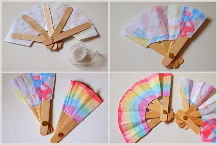 Make A Folding Popsicle Stick Fan Popsicles Search And