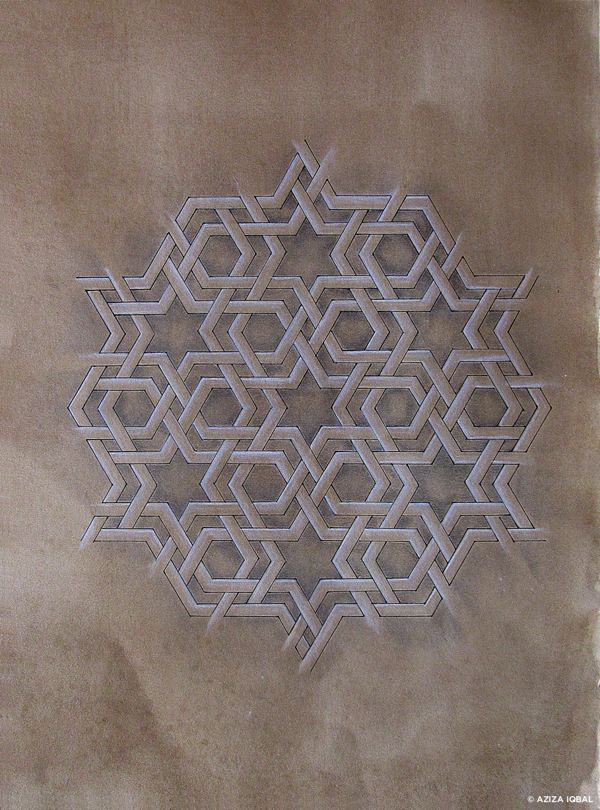Traditional Geometry Series ➔ ISLAMIC ART by Aziza Iqbal, via Behance