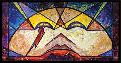 """Stained glass-inspired series of paintings. """"Something More 1"""""""