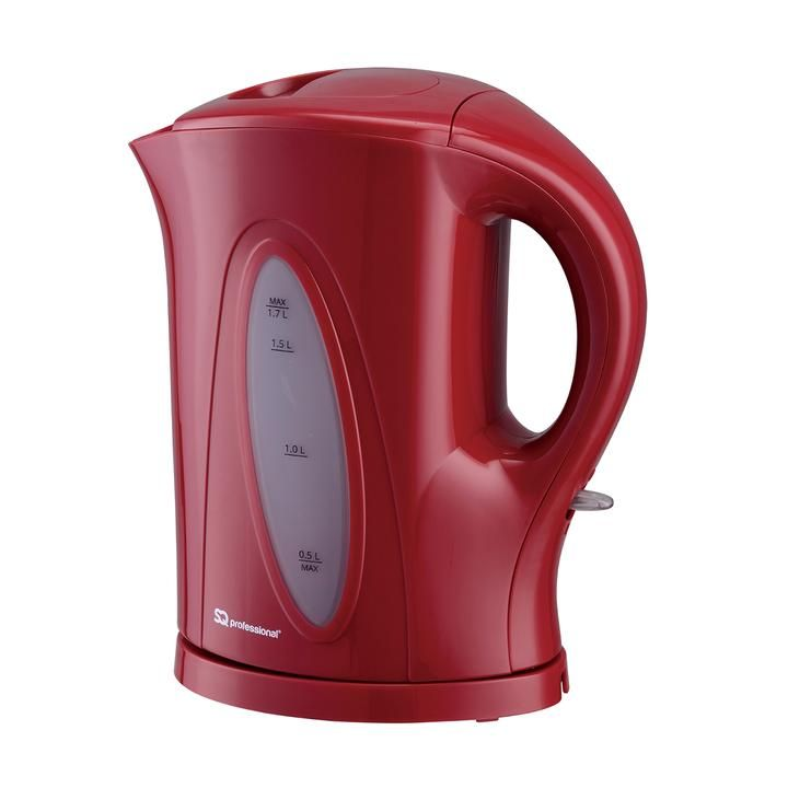 Aquen Cordless Electric Kettle, Fast Boil, 1.7L, 2200W Red