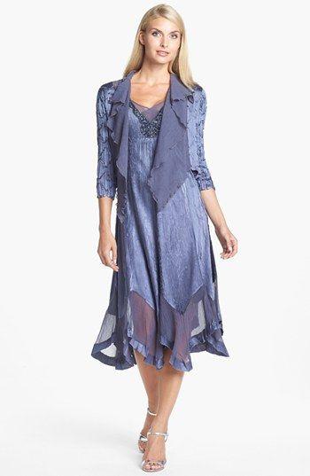 Komarov Embellished Charmeuse Dress & Jacket (Regular & Petite) available at #Nordstrom
