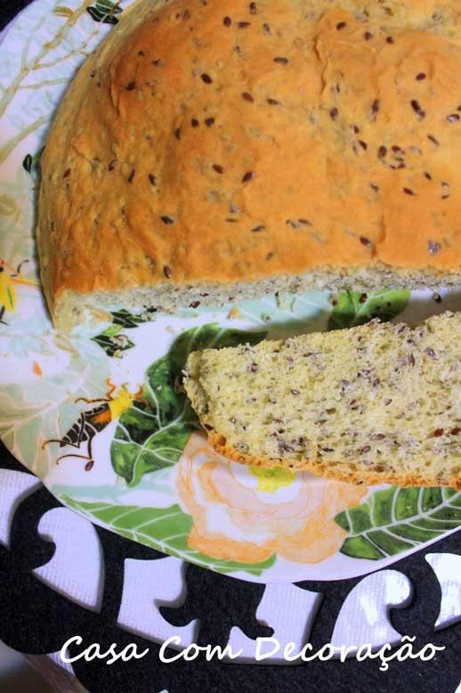 Receita de pão com sementes de linhaça