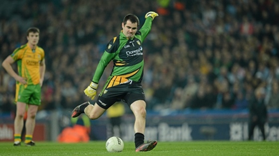 We love and support GAA Football! Donegal's Paul Durcan in action