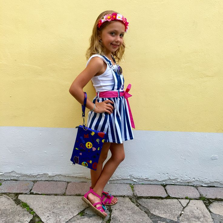 What does coquette mean? #OOTD @FabKids denim striped #skirtall with a white tank and pink accessories and a fab #emoji purse #fashionista #kidsfashion #FabKidsOnTheGo #FabKidsBrandAmbassador #ClassofFabKids