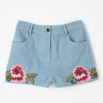 Boho Short Length The Day We Meadow Shorts