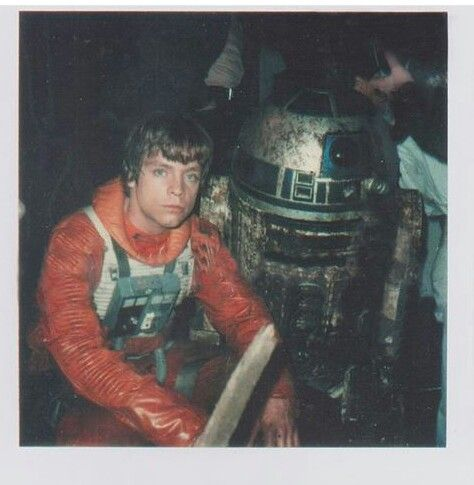 Mark Hamill on the set of Star Wars A New Hope