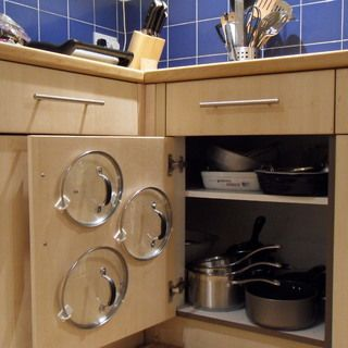 Easiest Cupboard Pan Lid Organizer - Have to do this! - MilitaryAvenue.com