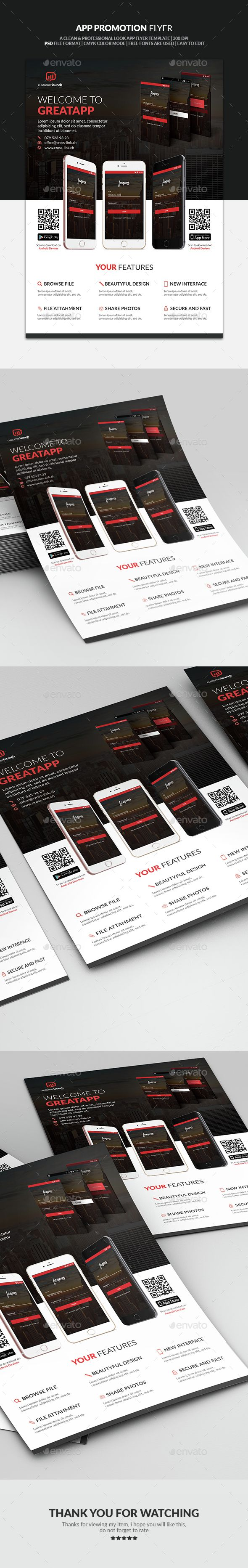 Apps Promotion Flyer 64 best promotion images
