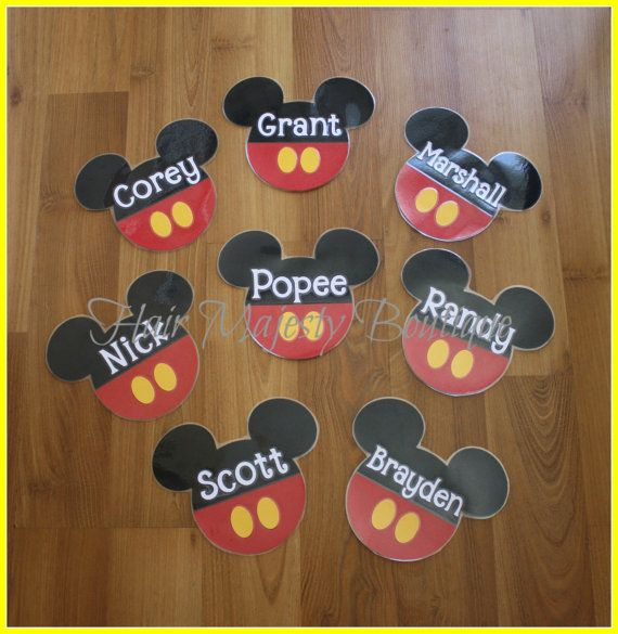 1 Individual Personalized Mickey OR Minnie by HairMajestyBoutique