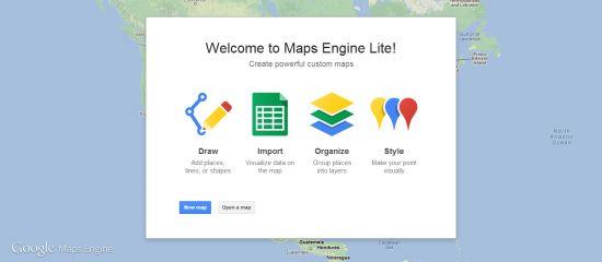 Créer une carte personnalisée avec Google maps Engine Lite