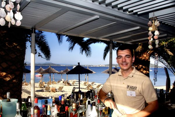 "‎""I love to socialize with people & identify the chemistry amongst completely diverse individuals. With mathematical precision, a bit of alcohol & a shot of the bartender's touch will undoubtedly create a delicious effect!""    Mr. Labros Laskaris, Bartender of the Beach Bar at Eagles Palace 