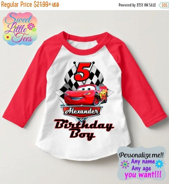 25% OFF Lightning McQueen Birthday by sweetlittletees on Etsy
