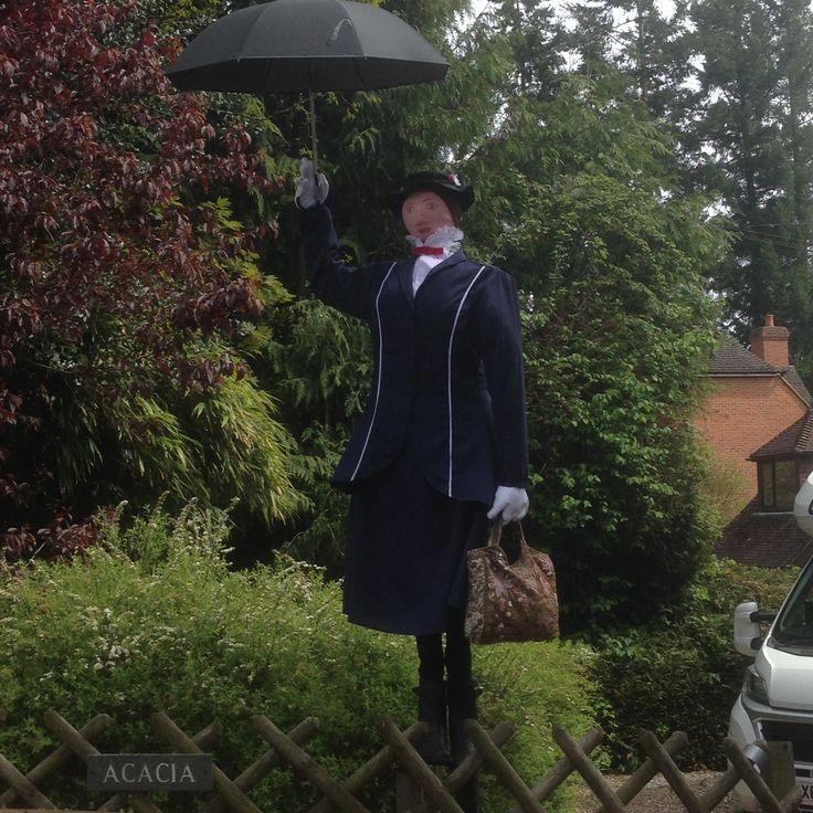 Mary Poppins scarecrow at Frensham in Farnham
