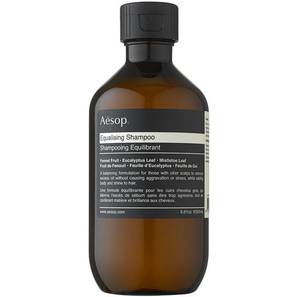 Aesop Equalising Shampoo 200ml (65 BRL) ❤ liked on Polyvore featuring beauty products, haircare, hair shampoo, beauty, fillers, cosmetics, makeup, accessories and aesop