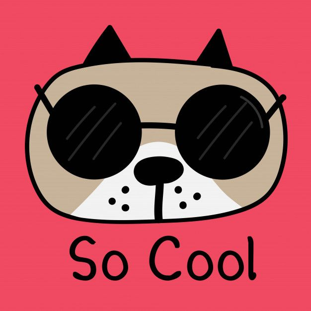 Cool Dog With Sunglasses Vector Illustration Cute Animal Clipart Animal Clipart Vector Illustration
