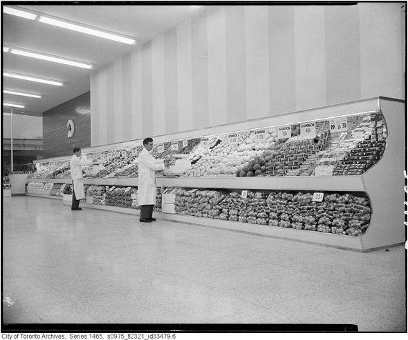Uninspiring supermarket display - not much choice.