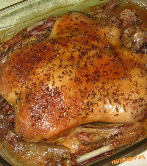výborná pomaly pečená kačica