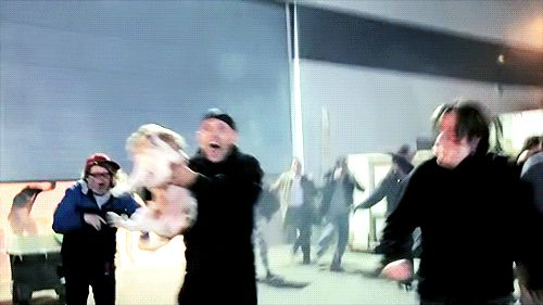 This is the best part of the whole mockumentary! Jensen screaming and running with Jared's dog! #SPNFamily