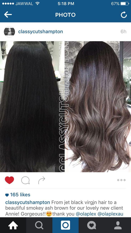 Ash brown ombré hair