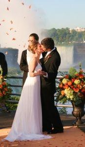Wedding at Niagara Falls! So romantic. From The Falls Wedding Chapel