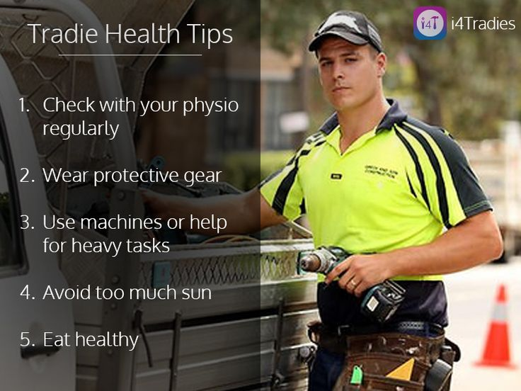 As a #Tradie keeping an eye on your health is very important! #TradesServices #Melbourne #Australia