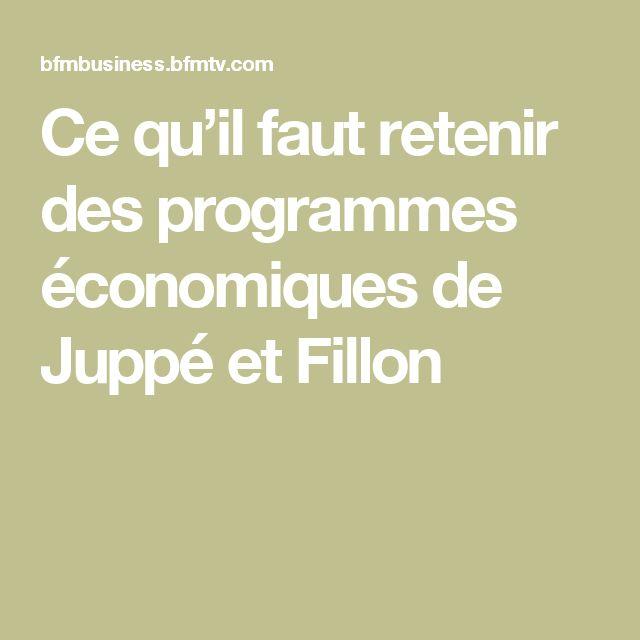 Ce qu'il faut retenir des programmes économiques de Juppé etFillon