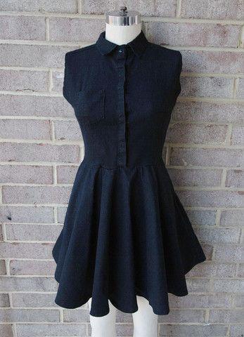 Black Choco Button-Down Dress - LiTTLE RAMONAS