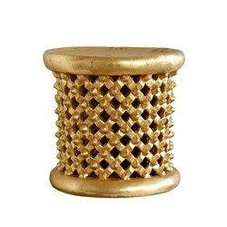 'Kano Stool/Side Table, Gold