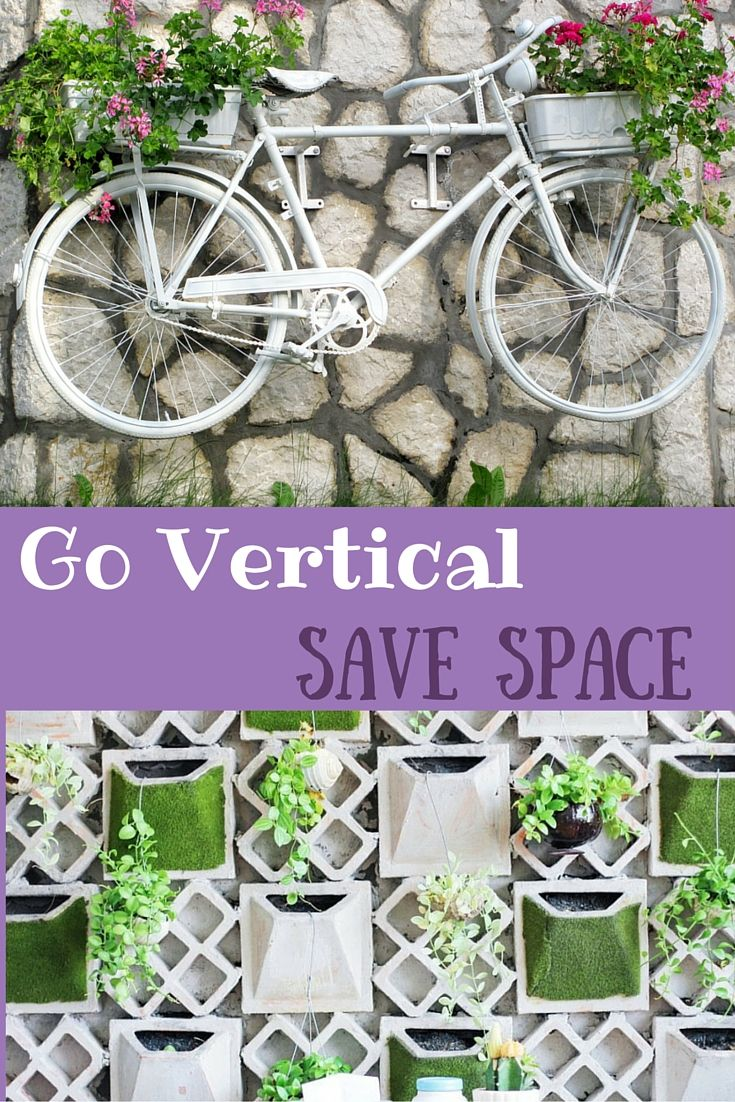 Forget the space constraint and go vertical when you cannot do yard gardening or lawn gardening at your place. Here are few tips to go vertical.