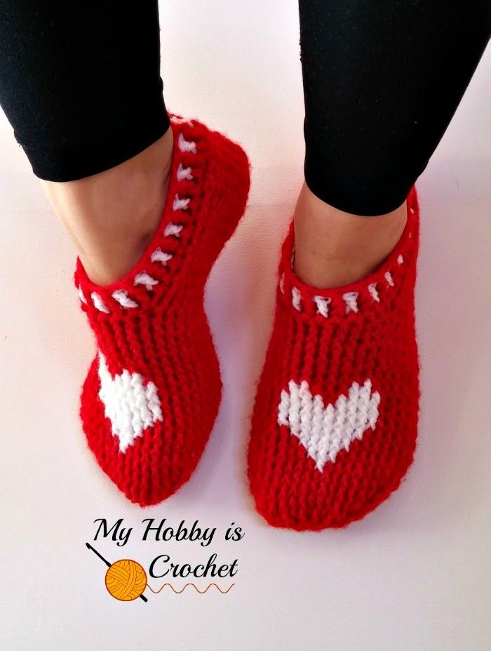 Heart & Sole Slippers| Women size | Free Crochet Pattern | Written Instructions and Graph on myhobbyiscrochet.com