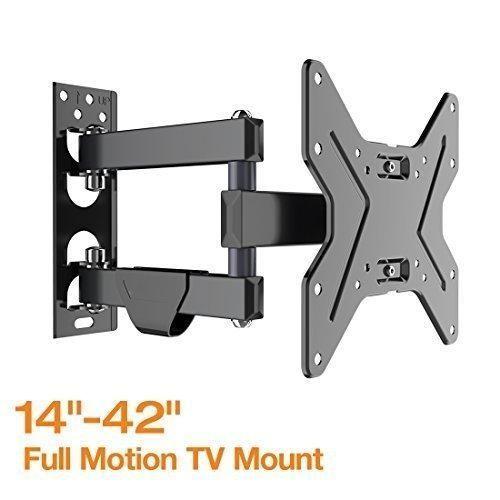 Fleximounts Full Motion Articulating TV wall mount Tilt Swivel Bracket for 17''-42'' LCD LED HD Plasma TV