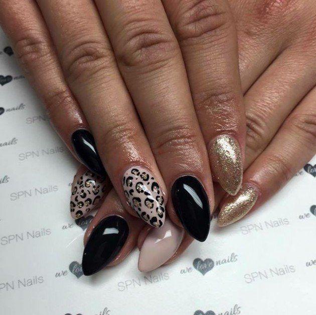 Leopard print nails tutorial