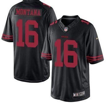 04786f798 get jerseys http 49ers 16 joe montana black alternate mens stitched nfl  limited san francisco .