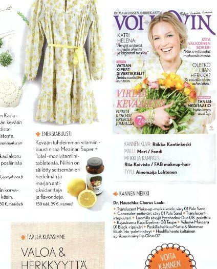 Vitamiinista väriä kevääseen, Voi Hyvin -lehti 3/2014 www.mezina.fi