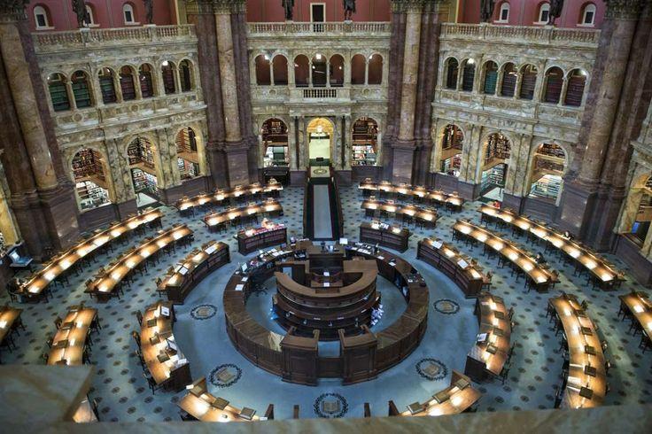 La bibliothèque du Congrès des Etats-Unis à Washington, instituée en 1800101 Independence Ave SE, Wa... - Vogue Paris