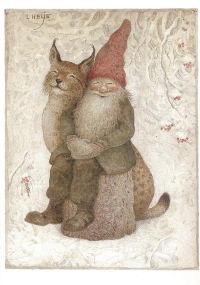 tomte med katt, Lennart Helje