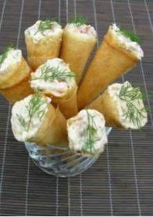 Cornets de brick au saumon